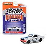 1965 Ford Mustang Shelby GT350 BP #23 Charlie Kemp White with Blue Stripes Ford Racing Heritage Series 2 1/64 Diecast Model Car by Greenlight 13220 D