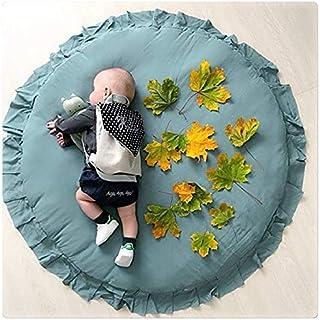 Puzzlos Tapis Ramper bébé, Rond Moquette Enfant Tapis, Tapis de Jeu Rond Portable, Tapis éveil Jeu Bébé Accessoires DéCora...
