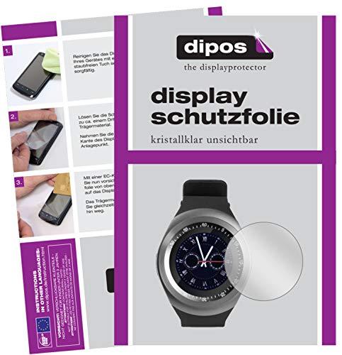 dipos I 2X Schutzfolie klar kompatibel mit TrendGeek TG-SW1 Smartwatch Folie Displayschutzfolie