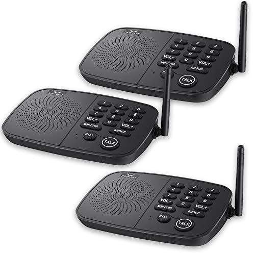 Système d'Interphone portable Hosmart, Appel privé et de groupe, Longue Portée de 800 mètres,10 Canaux, Pour Maison et Bureau (Pack de 2 unités)