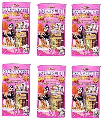 6x Polaretti Fruit Girl Ice Eis cream Lollies mit Fruchtsaft zum Einfriere 10x 40ml
