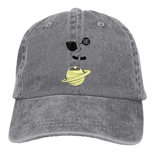 Yuanmeiju Gorra de Mezclilla I Need Space Unisex Vintage Washed Distressed Baseball Cap Twill Adjustable Dad Hat