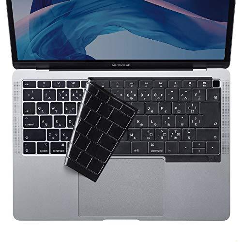 サンワサプライ FA-SMACBA13RBK MacBook Air 13.3インチ Retinaディスプレイ用シリコンキーボードカバー(ブラック)