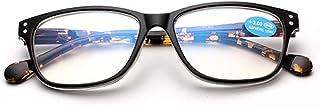 Leesbril Mannen Vrouwen Presbyopie Brillen Frame Retro Anti-vermoeidheid Lezen Eyewear Plastic 9.23 (Color : Leopard, Size...