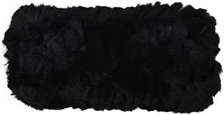 Reversable Rabbit Fur/Cable Knit Kids Ear Muffler Head Wrap