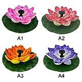 GCSEY Colores Bomba De Agua Cuatro Piezas Solar Set Lotus Fuente De La Flor De Loto De La Fuente del Jardín Fuente del Estanque De Fuente Solar Patio del Paisaje