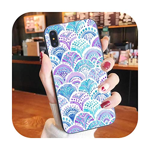 Funda para iPhone XR X 8 7 6 Plus moda linda cubierta Apple XS 11 Pro Max SE2020-Mermaid6-iPhone XS