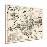 Historix Vintage 1722 Karte von Boston Massachusetts – 61