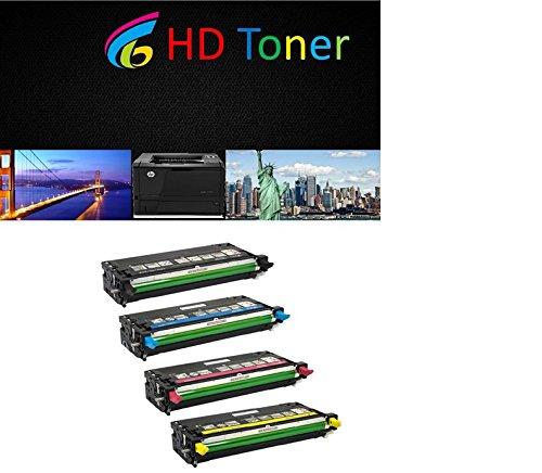 HD Toner High Yield OEM Quality Xerox Phaser 6280 Printer Toner Cartridges Set 4-pack (1 Black, 1 Cyan, 1 Yellow, 1 Magenta) for use in Xerox Phaser 6280, 6280N, 6280DN Printers