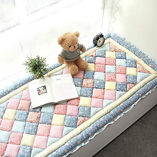 WZR anti-slip bay raam kussen,dik zacht katoen sofa beschermhoezen vloer vensterbank mat pastorale stijl tatamimat balkondeur slaapkamer
