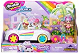Shopkins Happy Places Rainbow Beach Convertible - Includes Convertible Plus Picnic Petkin Accessories & Rainbow Kate | Happy Convertible, 2 Stories of Fun