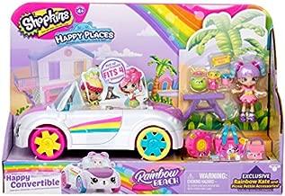 Shopkins Happy Places Rainbow Beach Convertible - Includes Convertible Plus Picnic Petkin Accessories & Rainbow Kate   Happy Convertible, 2 Stories of Fun