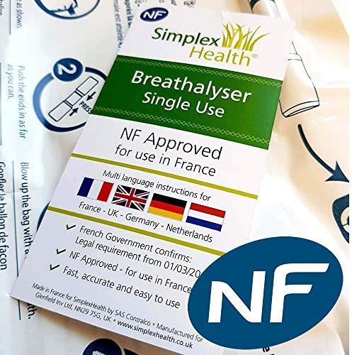 Alkoholtester für Gebrauch in Frankreich NF (Einweg) 1 Test