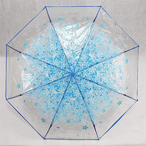 QFUNDAS Anti-UV Paraguas para Mujer B20, Paraguas Transparente para Mujer, Resistente al Viento, Mango Curvo, Resistente El Paraguas es una Pintura de Secado rápido