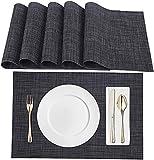 Amazon Brand – Eono Set di 6 Tovagliette da Tavolo in PVC, Antiscivolo e Lavabili,Resistenti al Calore,Ecologici, Ideali per la Cucina