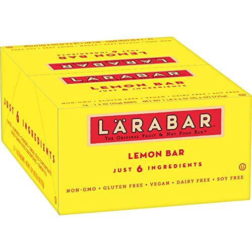 Larabar Gluten Free Bar, Lemon, Whole Food, Dairy Free Snacks, 1.6 Ounce (Pack of 16)