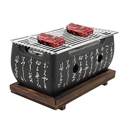 Jacksking Parrillas de carbón, Horno Rectangular Cocina Japonesa Estufa de carbón Estufa...