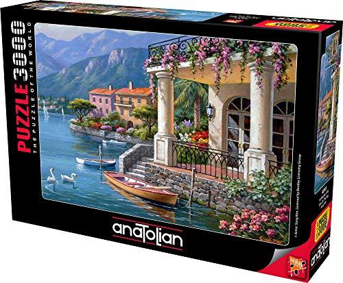 Anatolian Puzzle 3000 Teile - Villa an der Bucht | Puzzle-Größe 120cmx85cm (H)