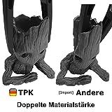 TPK Baby Groot Blumentopf Figur – Übertopf Groß Aquarium Deko Figur Holz Aschenbecher Stiftehalter – Innen - 4