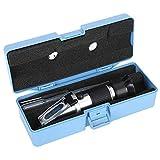 Refractómetro Brix de mano, refractómetro para vino, 0-40% acuario pequeño para hacer vino para la cría de peces marinos, elaboración casera