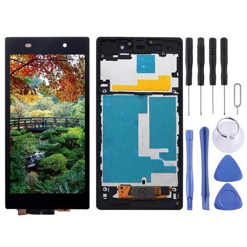 Sony Xperia Z1 L39h C6902 C6903 C6906 y C6943 - Pantalla LCD táctil con marco para Sony Xperia Z1, L39h, C6902, C6902, C6903, color negro