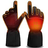 Men Women Heated Gloves Rechargeable Electric Battery Heat Gloves,Sports Outdoor Battery Powered Heating Gloves Climbing Hiking Hunting Camping Handwarmer,Winter Novelty Warm Thermal Heated Gloves