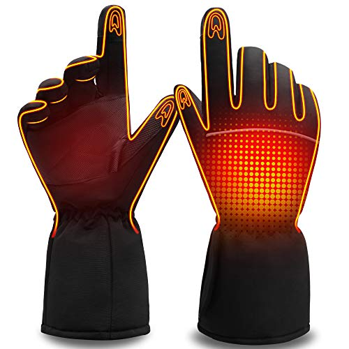 Men Women Heated Gloves Rechargeable Electric Battery Heat Gloves,Sports Outdoor Battery Powered...
