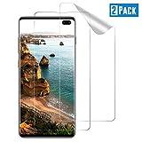TOIYIOC 2 Pezzi Non Vetro Temperato Pellicola per Samsung Galaxy S10 Plus, Pellicola Protettiva Compatibile con Samsung Galaxy S10 Plus, Copertura Completa HD Trasparente Protezione Schermo