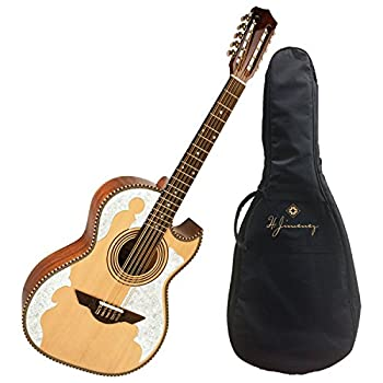 H Jimenez LBQ4 El Patro n Solid Spruce Top Bajo Quinto with Padded Gig Bag - Natural
