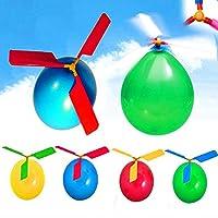 German Trendseller-4x Ballon Hubschrauber ✔ Spielzeug Lenkrad ✔ Ideal für kleine Geschenke an die Kinder Geburtstag ✔ Mischung aus Farbe ✔ Eiskönigin Versand graduite Eiskönigin ✔