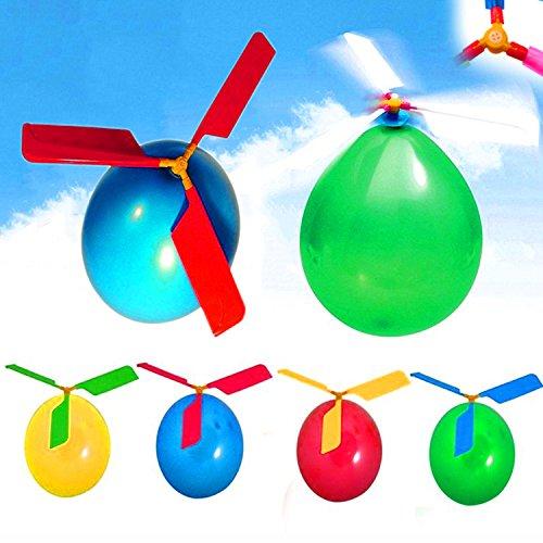 German Trendseller® - 4 x Ballon Helikopter l Steil Flieger l Propeller Ballons l Himmel Flieger l Der Knaller bei jedem Kindergeburtstag ✔