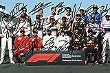Foto mit Formel 1-Fahrern 2018, mit zertifizierten