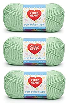 Red Heart E746-9620 Red Heart Soft Baby Steps Yarn - Baby Green