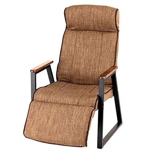 ドウシシャ フットレスト付高座椅子 BR