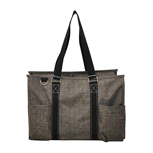 NGIL All Purpose Organizer Medium Utility Tote Bag 2018 Spring Collection (Crosshatch Khaki)