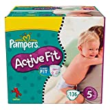 Couches Pampers - Taille 5 active fit - 136 couches bébé