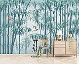 Papel Pintado Pared Papel Bosque De Bambú Verde Con Pájaros Volando Fotomurales 3d Decoración Papel Tapiz Dormitorio Sala Custom Murales Fondo Pared 430x300cm
