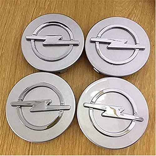 4 Cubiertas Centrales De Llanta para Opel Astra Mokka, ProteccióN Con Logotipo Prueba Agua Polvo Con Buje Rueda Accesorios Partes