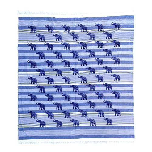 Domum Mandala Tapestry 100% Cotone dall'India 210X240 cm. Decorazione Murale con Applicazioni Multiple:Copriletto, Copridivano, Tovaglia, Pareo, Foulard, Picnic, Copriletto, Telo Mare Grande.