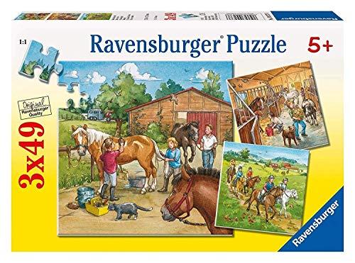Ravensburger Kinderpuzzle 09237 - Mein Reiterhof - 3 x 49 Teile
