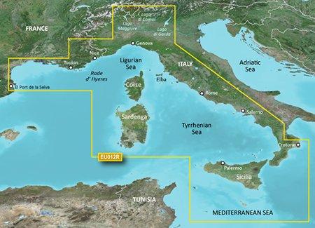 Garmin BlueChart g2 VEU012R – Carte de la mer Tyrrhénienne