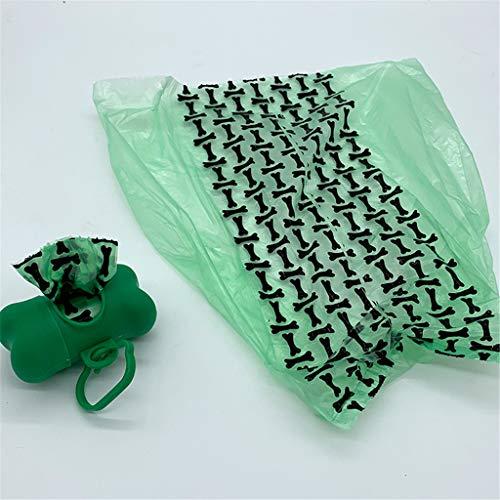 Zhangxiaowei Hundepoop Taschen Rolls dick und stark Biodegradable Poop Taschen für Hunde, mit garantierter Dichtigkeit 3Rolls mit Schubbox,3 Rolls