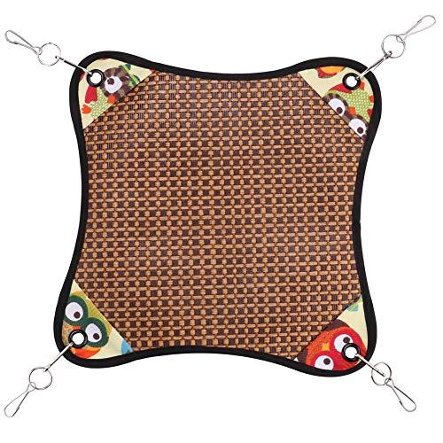 Pbzydu Cama Colgante para hámster, Alfombrilla de enfriamiento para hámster, Alfombrilla de enfriamiento de Color Brillante, cómoda Ardilla de Conejillo de Indias para hámster,(Owl)