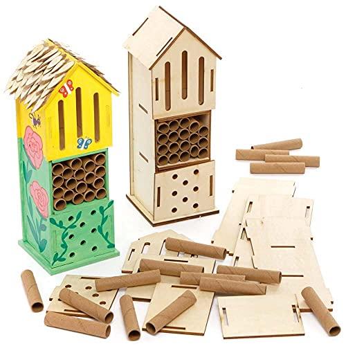 Baker Ross FE508 Insektenhotel für Kinder zum Basteln - 2er Pack, Kinder Garten Deko zum Basteln, Ideal für den Sommer
