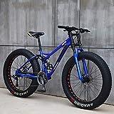 Bicicleta 26 Pulgadas MTB Arriba Rueda Grasa Moto Playa Nieve Grande Grasa Bicicletas 21 Velocidades Grasas para Adultos NeumáTico Grasa Bicicleta MontañA Crucero Bicicleta Grasa,B,24IN