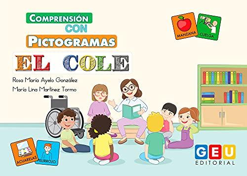Comprensión con pictogramas: El Cole   aprendizaje De Lenguaje Por La Ruta Visual: Peppa Pig Material Escolar Infantil (Iniciación a la Lectura) ⭐