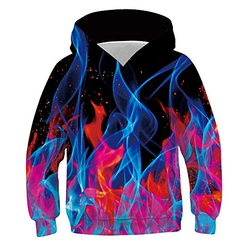 Idgreatim Teenager Sweatshirt 3D Gedruckt Kapuzenpullover Unisex Hässliche Hoodies L