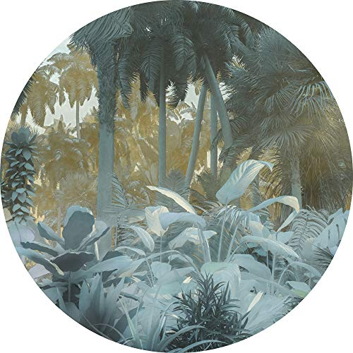 Komar DOT runde und selbstklebende Vlies Fototapete Exotic Jungle - Ø Durchmesser 125 cm - 1 Stück - Tapete, Dekoration, Regenwald, Dschungel, Wandtapete, Wandbild, Wandbelag, Designtapete - D1-047