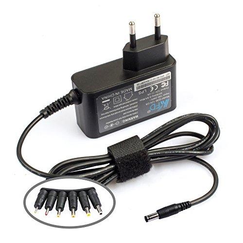 KFD Cargador 12V 220V Alimentador Adaptador Universal Corriente Para Western Digital, Disco duro externo, Dvd externo, LED Power Strip Fuente alimentación Transformador 12V 2A Power Supply Con 6 Tipos