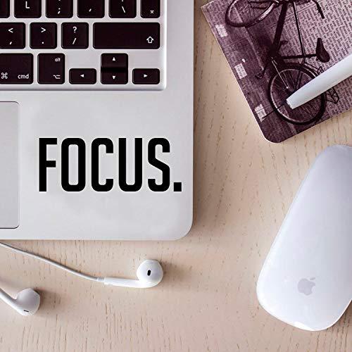 Vinyl-Wandaufkleber – Focus. - 5,1 x 12,7 cm – Laptop-Aufkleber – klein, abnehmbare Schablone für Zuhause, Büro, Spiegel, Fenster, Auto, Stoßstange, Aufkleber (5,1 x 12,7 cm, schwarzer Text)